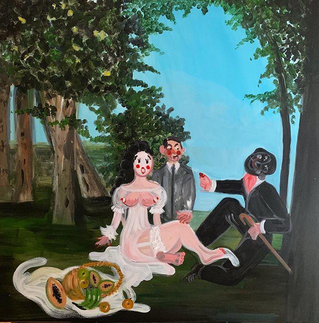 Luncheon on the Grass 💊 #ohdelaval #oh #instaart #artsy #painting #artgallery #arts #fineart #contemporaryart #modernart #park #paris #creative #picninc #myart #arty #makeupartist #artcollector #artwork  #artcollector #london #artofinstagram #monet #manet #nyartist #brunch #ny #artstagram#artstudio #sky