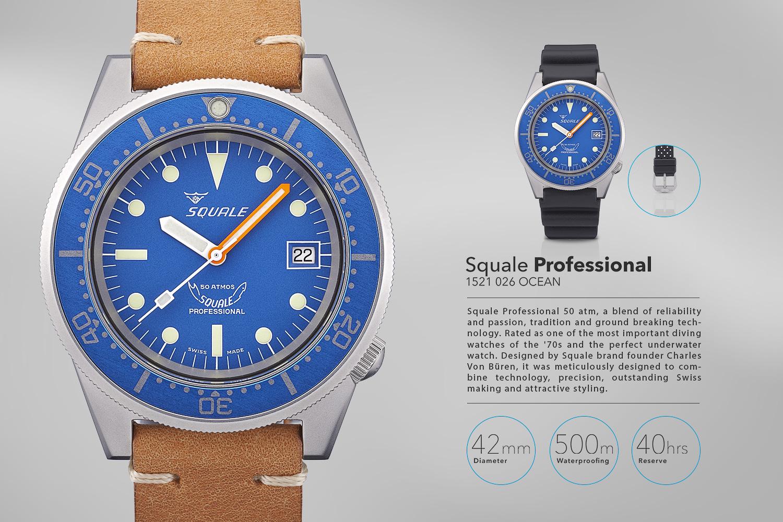 Produktová fotografia, reklamná fotografia, katalóg, hodinky, Squale