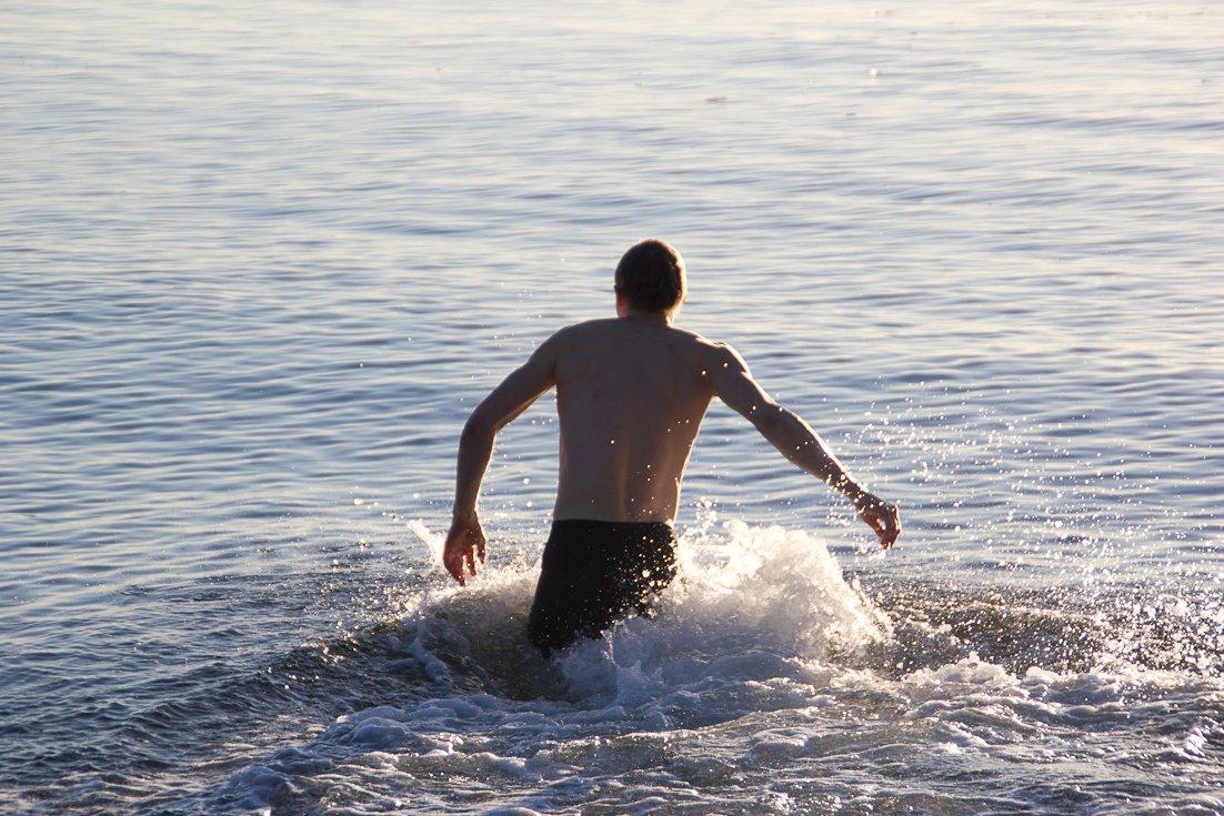 Også fra mit ophøj på Gerlev Idrætsholdskole. Vinterbadning er et emne, som også har med alle temaerne i denne post at gøre!