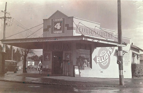 ELLIOTS FOUR SQUARE STORE  circa 1951.