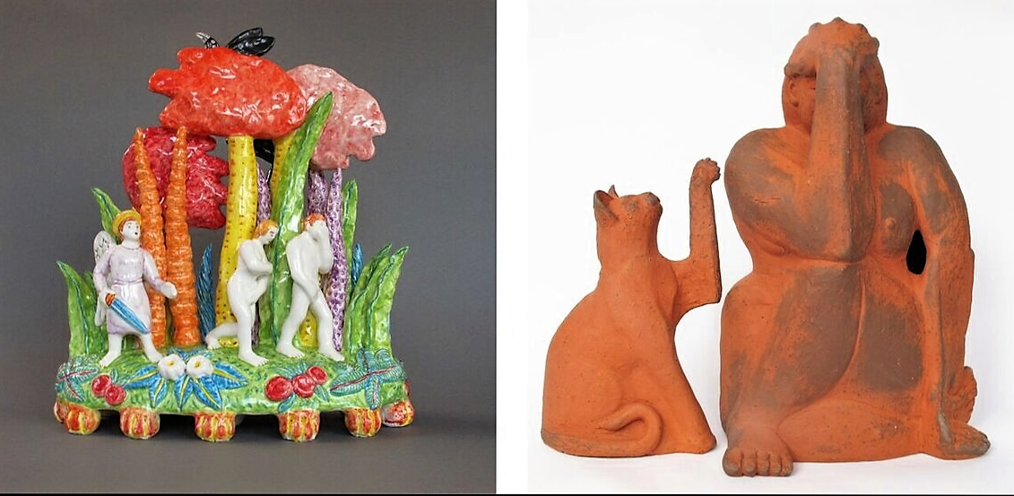 Paradise Lost. John Milton redux. by Chuck Joseph and TOUCHING in terracotta by Louise Rive