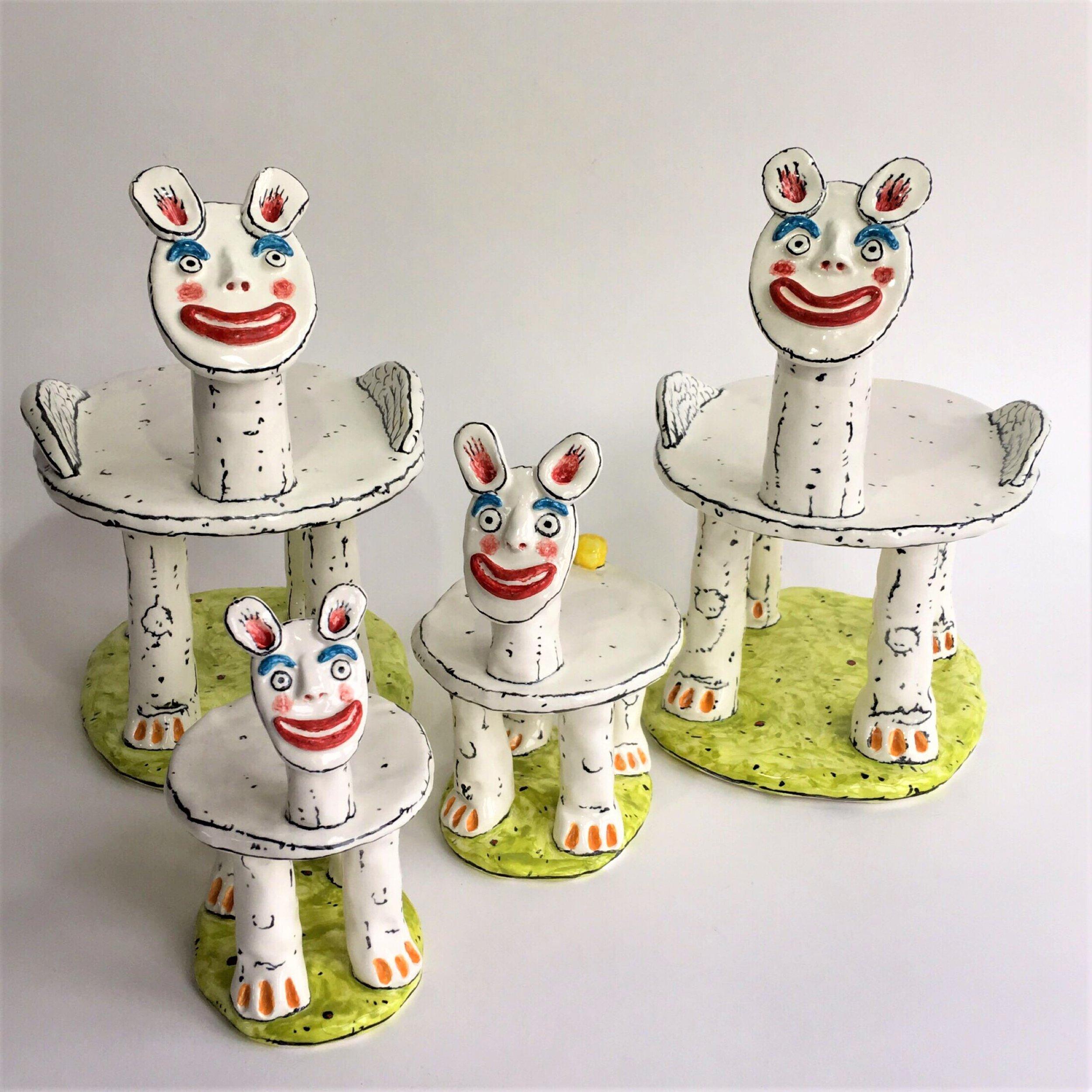 "NOURISH ""Family of Cake Carriers from Cakeland"". Chuck Joseph"