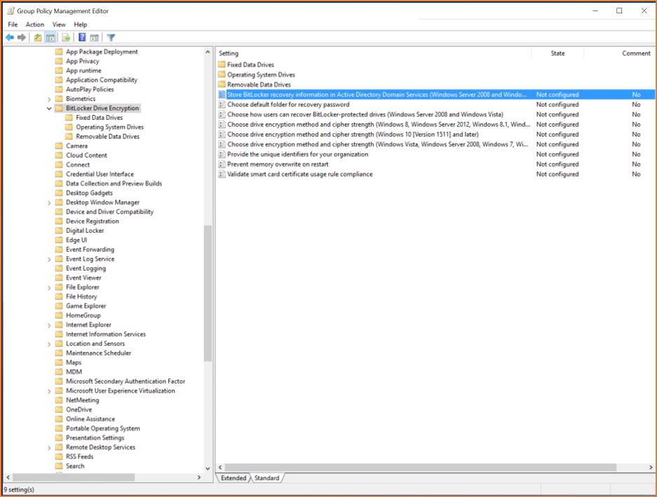 Bitlocker Step 2 - Bitlocker Drive Encryption