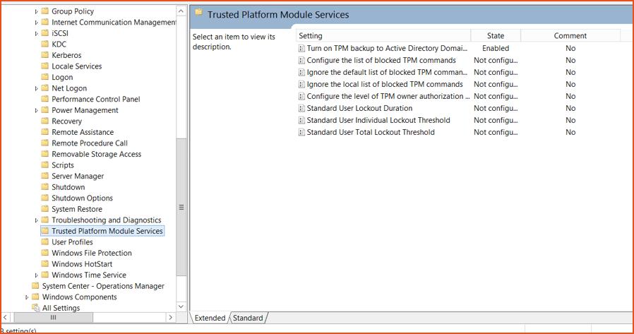 Bitlocker Guide Step 10 - Trusted Platform Module Mappe