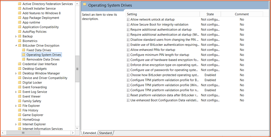 Bitlocker Guide Step 14 - Operating System Drives Mappe