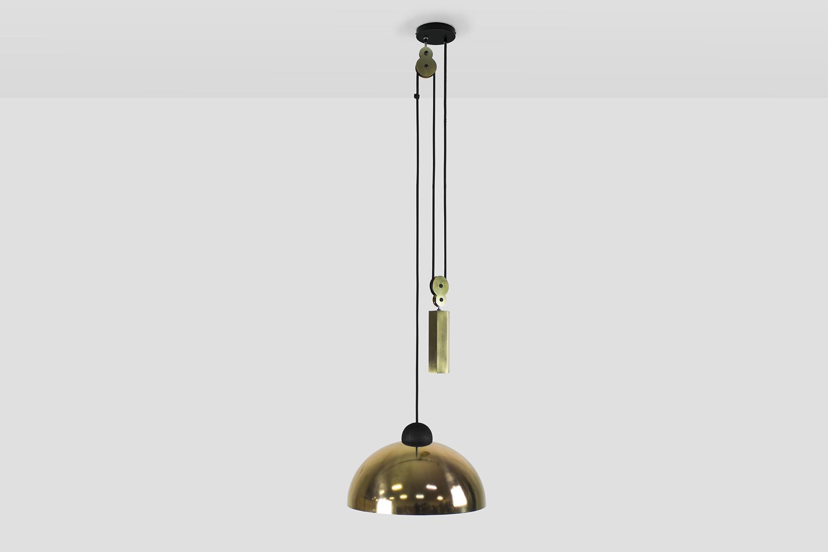 Up Down Pendant: Brass