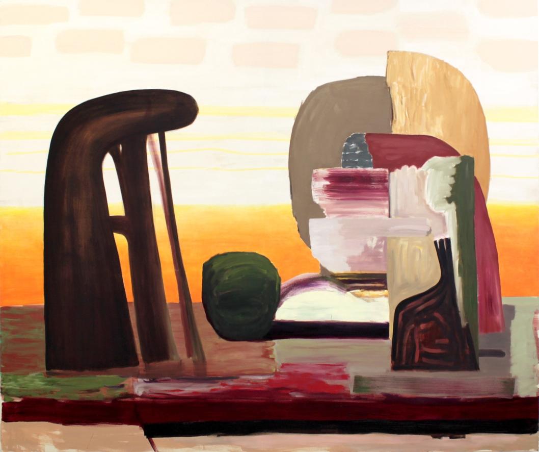 ohne Titel, Öl auf Leinwand, 208 x 268 cm