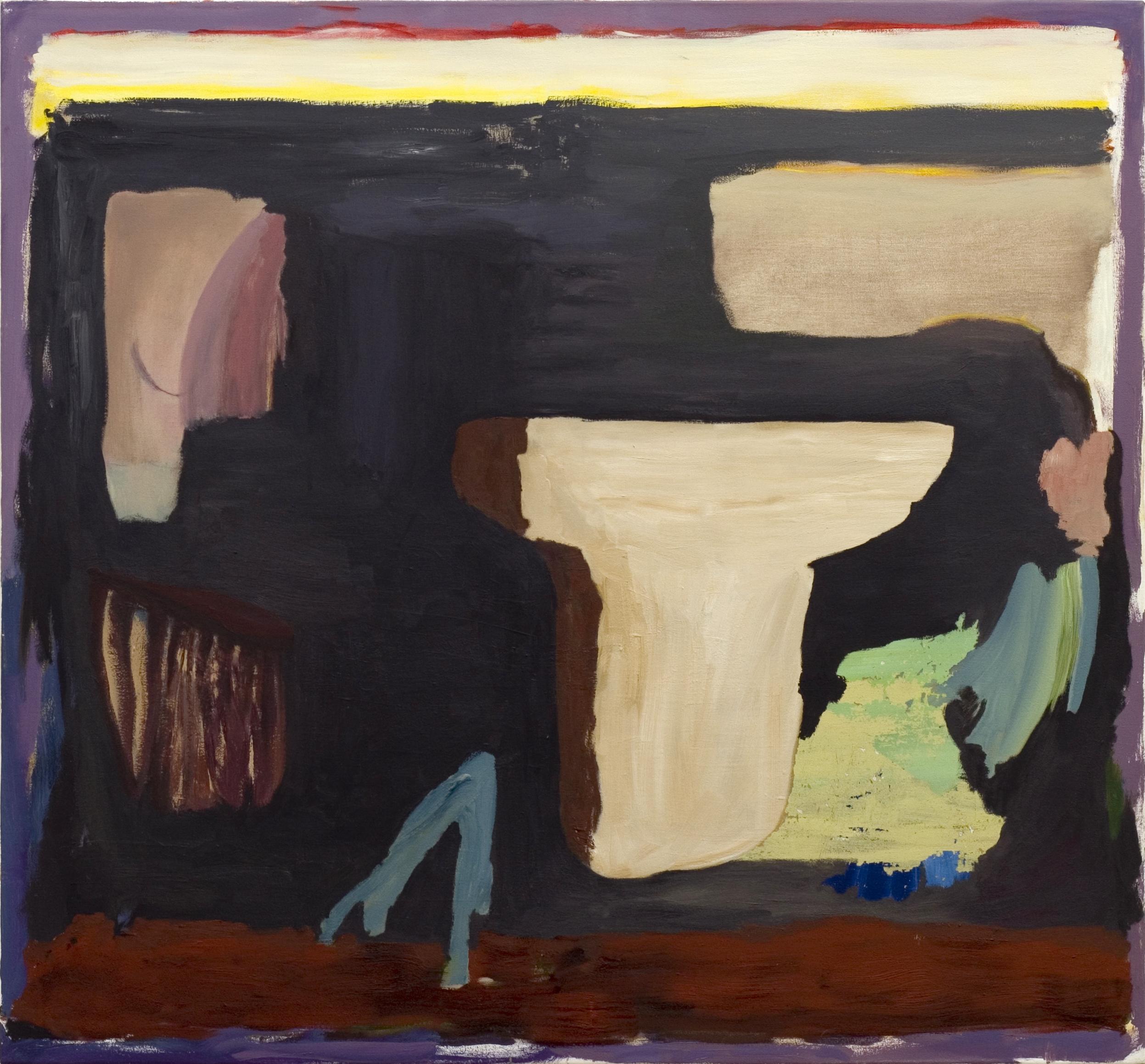 ohne Titel, Öl auf Leinwand, 130 x 140 cm