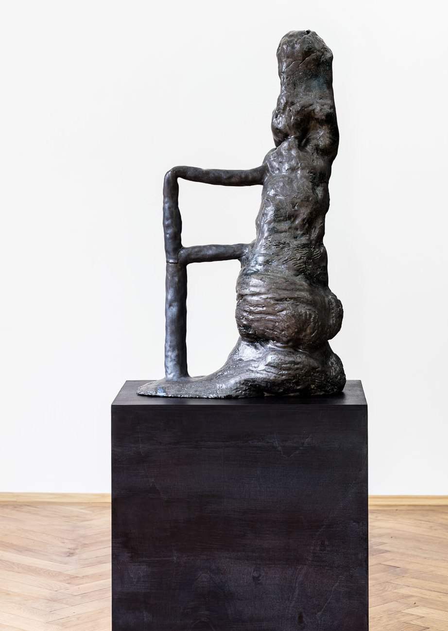 ohne Titel, glasierte Keramik, Höhe 73 cm
