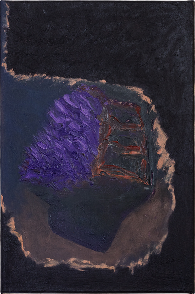 Ohne Titel, Öl auf Leinwand, 45 x 30 cm