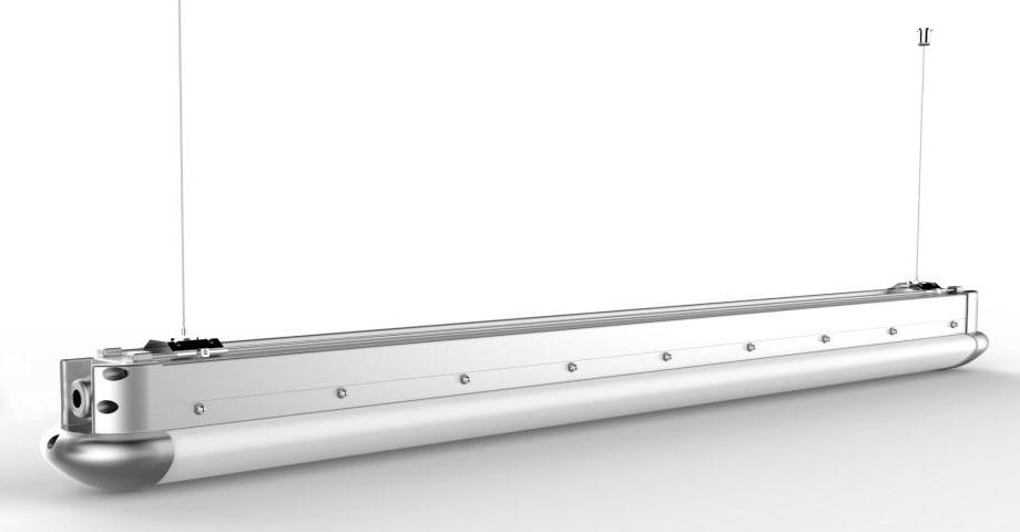 LUX SMDindustrilys   IP65.   Kommer i 40w, 50w, 65w  Kommer i 120 og 150cm lengder. Kan dimmes, seriekobles, hengesi vire eller fastmonteres.