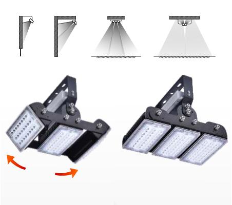 LUX-flomlys kan vinkles individuelt etter behov. Ved å montere kysskilden mot tak blir lyset indirekte.
