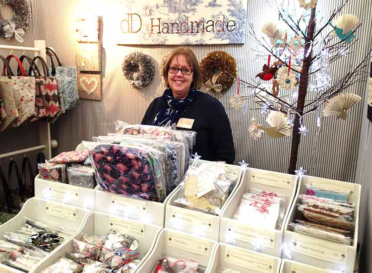 Beautiful textiles and mixed media alongside my knitwear at Wisley