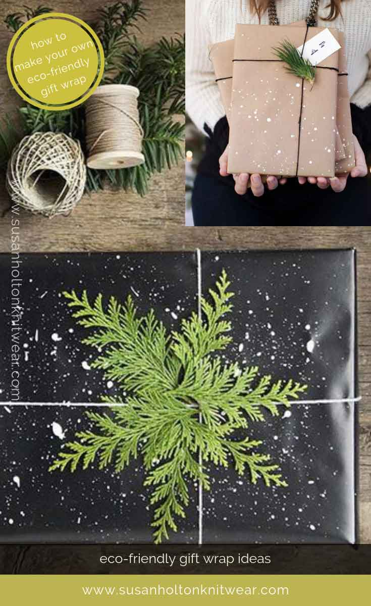 How to DIY your own stylish paint spattered gift wrap - creative and eco-friendly. Fun and #sustainable easy ways to #wrap your gifts #eco #friendly #DIY #handmade #Christmas #gift #wrapping #ideas