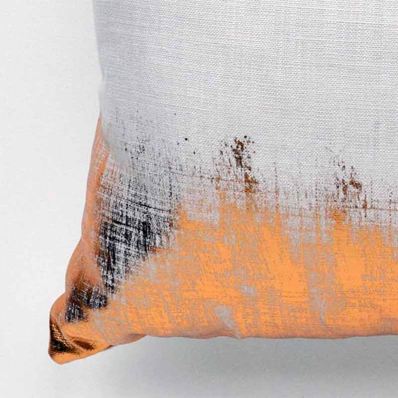 Clare Walsh handmade bronze foil cushion from Made By Hand Online