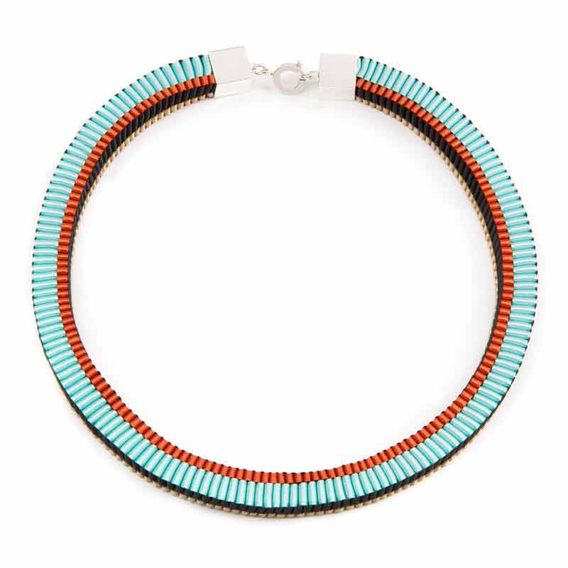 Hand braided necklace by Emma Calvert from Made By Hand Online