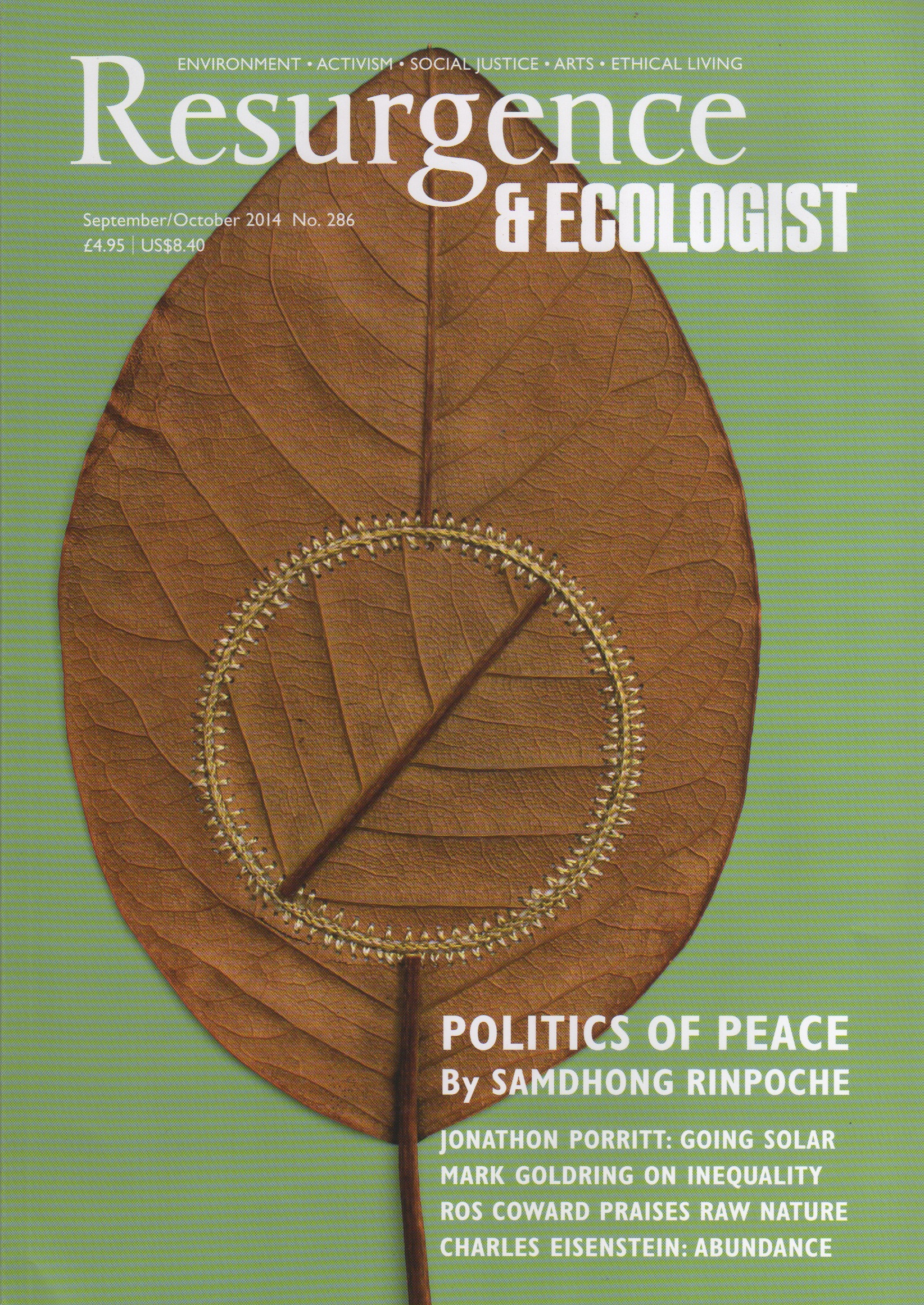 Resurgence & Ecologist  magazine UK September/October 2014