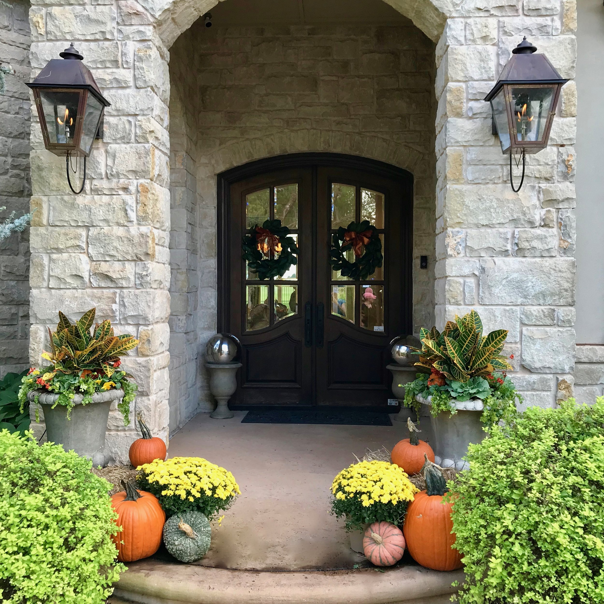 Let Adorn Help You   Who else, besides the Soil Sisters, is excited that fall will officially begin in less than one month? We. Can. Not. Wait.  We love a porch full of pumpkins, gourds, mums, crotons, hay bales, etc. to get the fall vibes going. Can you say instant gratification? It's the perfect seasonal decor to welcome your friends, family and customers to your front door.  We are happy to lend a hand with your fall exterior decorating. Please give us a shout if we can help bring the best of the season to your front porch or storefront.  Make sure to follow Adorn on social media so you don't miss all the good dirt on a daily basis. Click the links below to follow us on Facebook, Instagram and Pinterest.  https://www.facebook.com/adornplanters  https://www.instagram.com/adornplanters https://www.pinterest.com/adornplanters