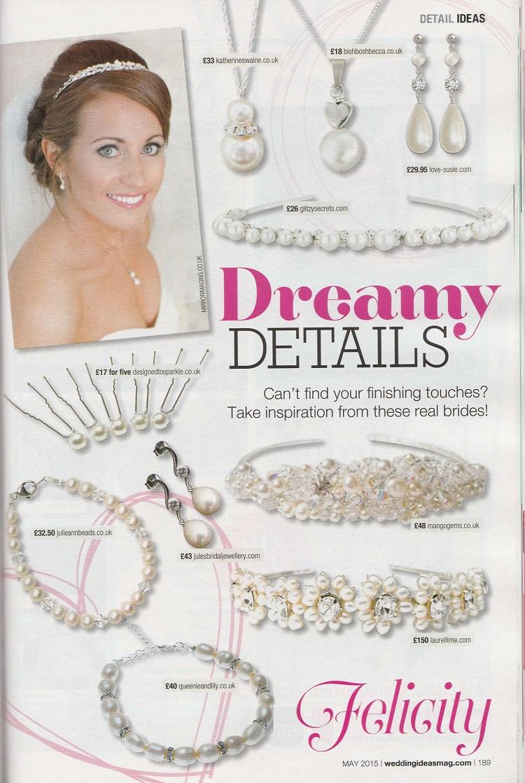 Megan Pearl Bridal Hair pins Wedding Ideas Magazine May 2015.jpg