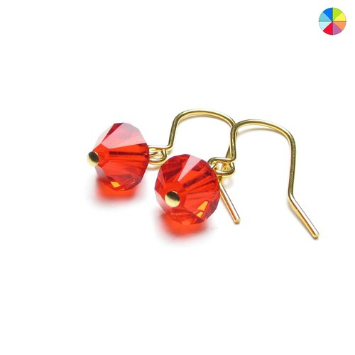 6f8f910a4f0f9 Mirabella crystal drop earrings in Spring warm colours