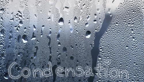 Condensation on inside of window