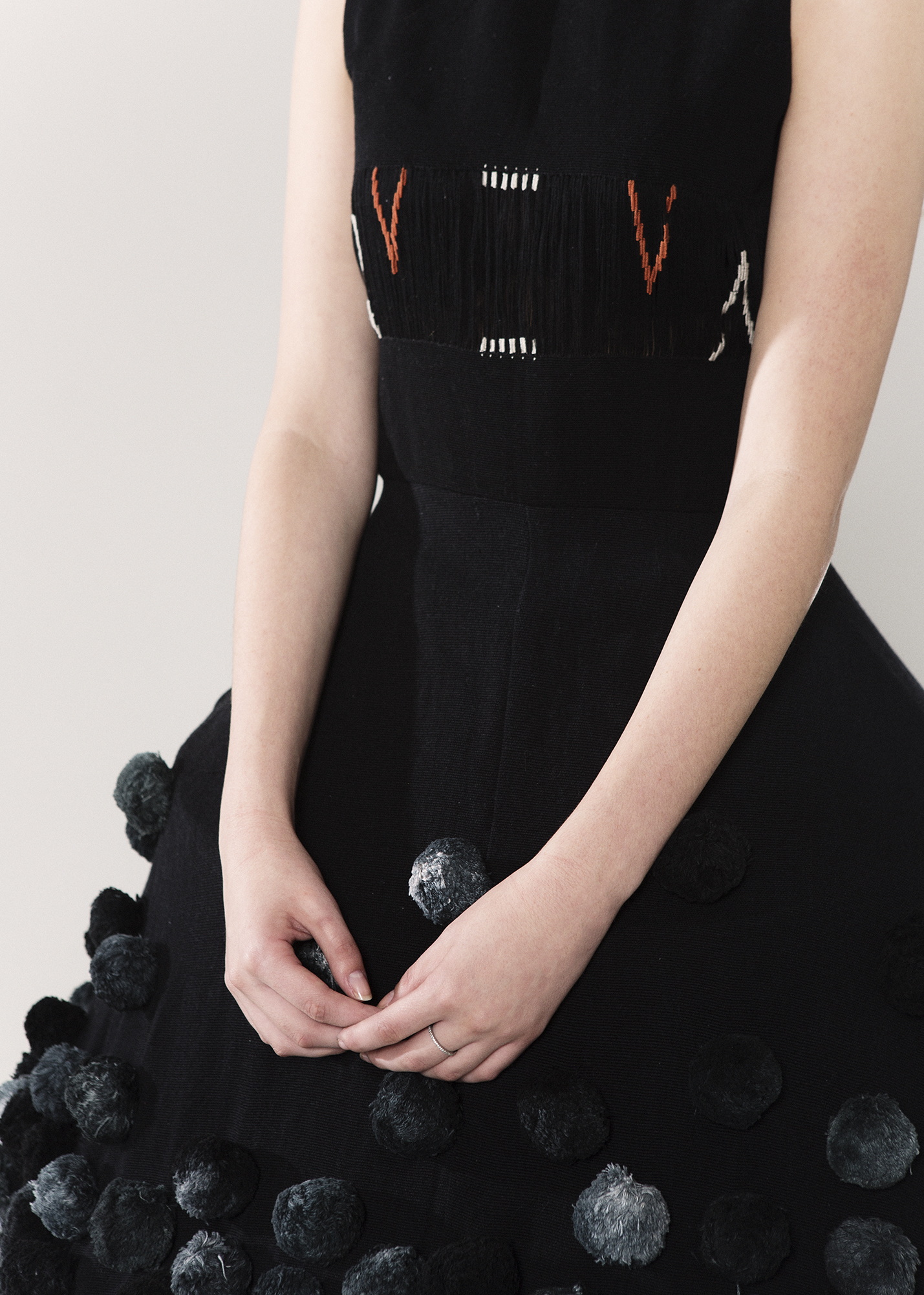 Absentia  Pompom dress One size  Waist loom and hand-embroidered $2,500.00 + Shipping