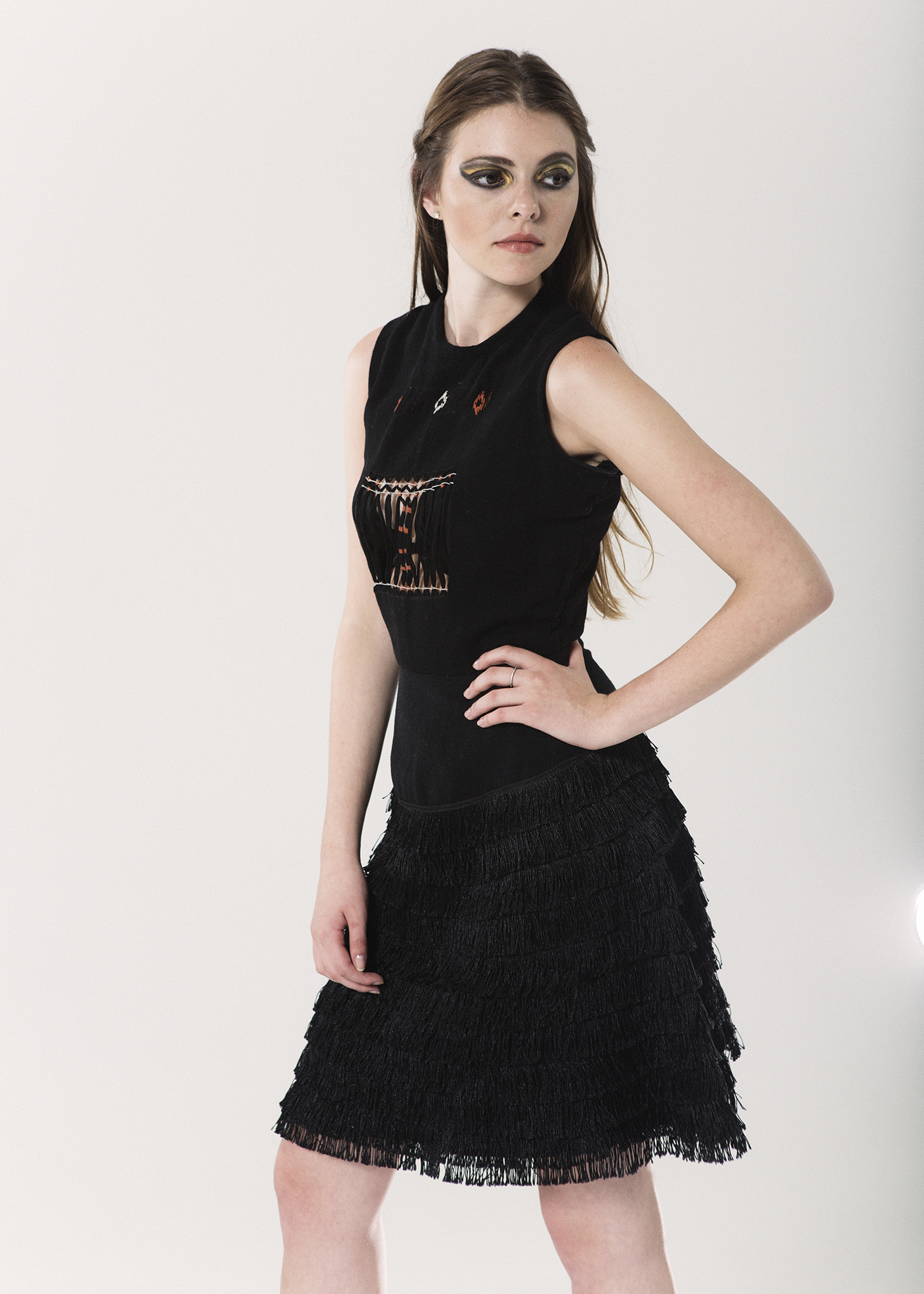 Absentia  Fringe dress One size Waist loom and hand-embroidered $1,600.00 + Shipping