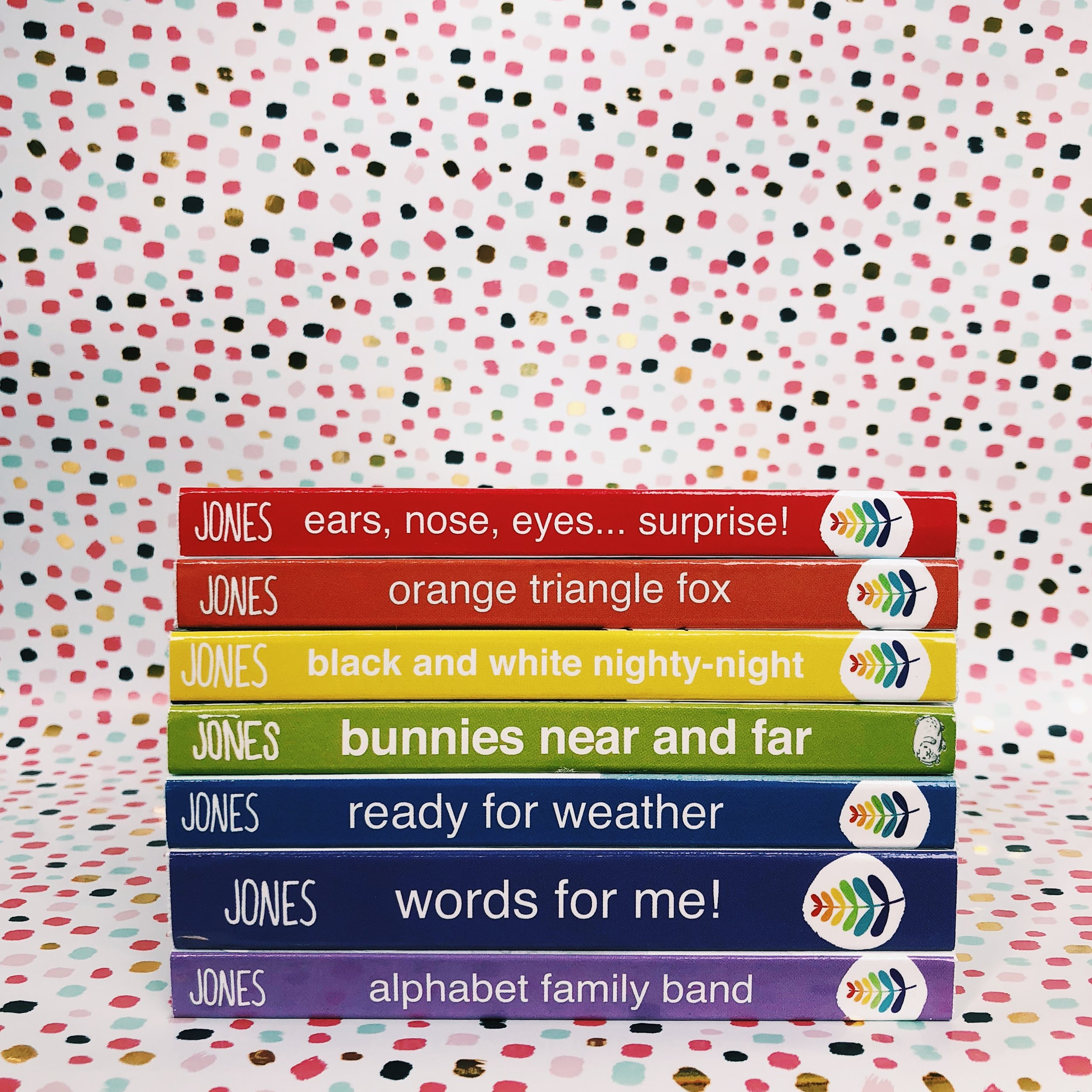 The ROYGBaby series displays all the colors of the rainbow when stacked in order!