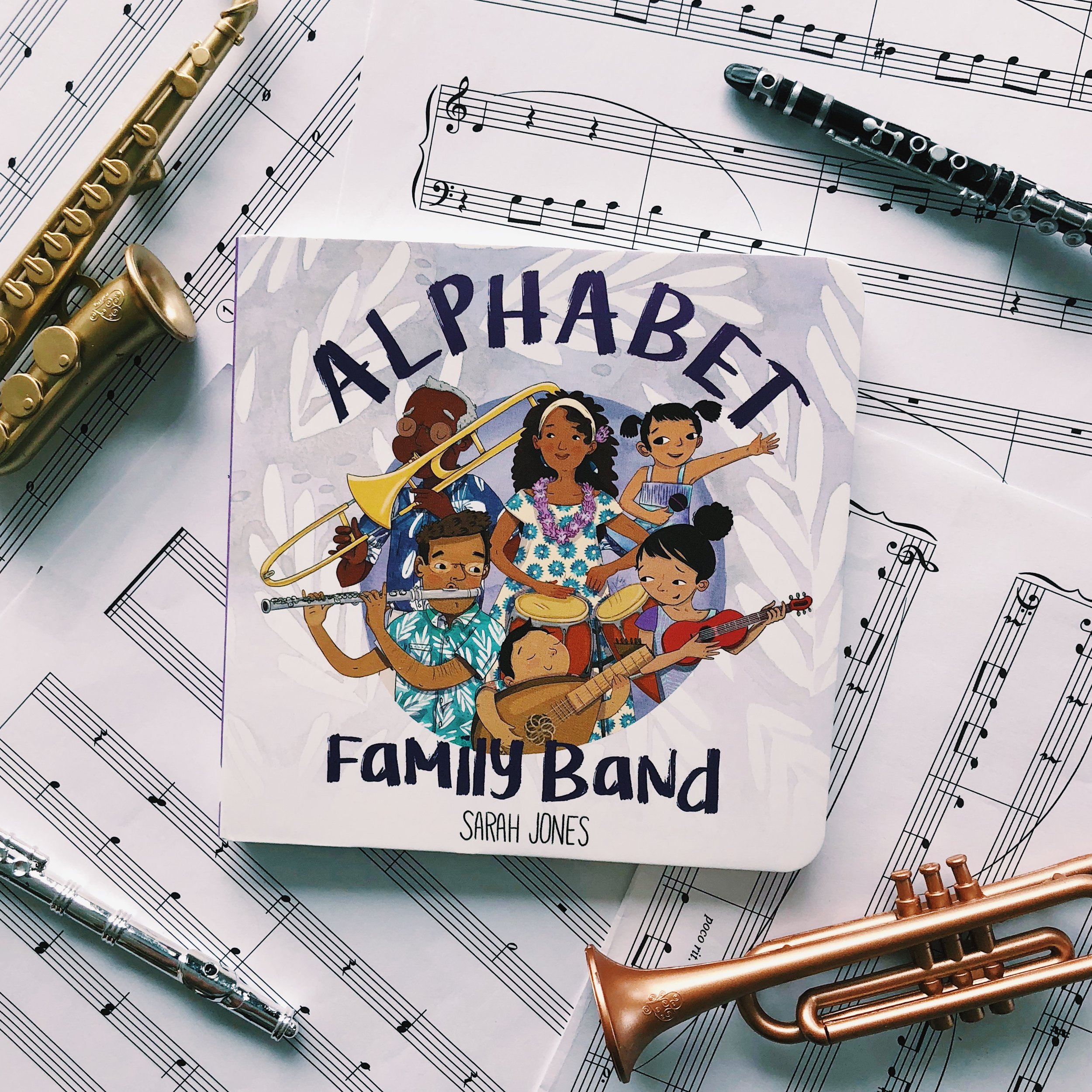 Alphabet Family Band     written and illustrated by Sarah Jones