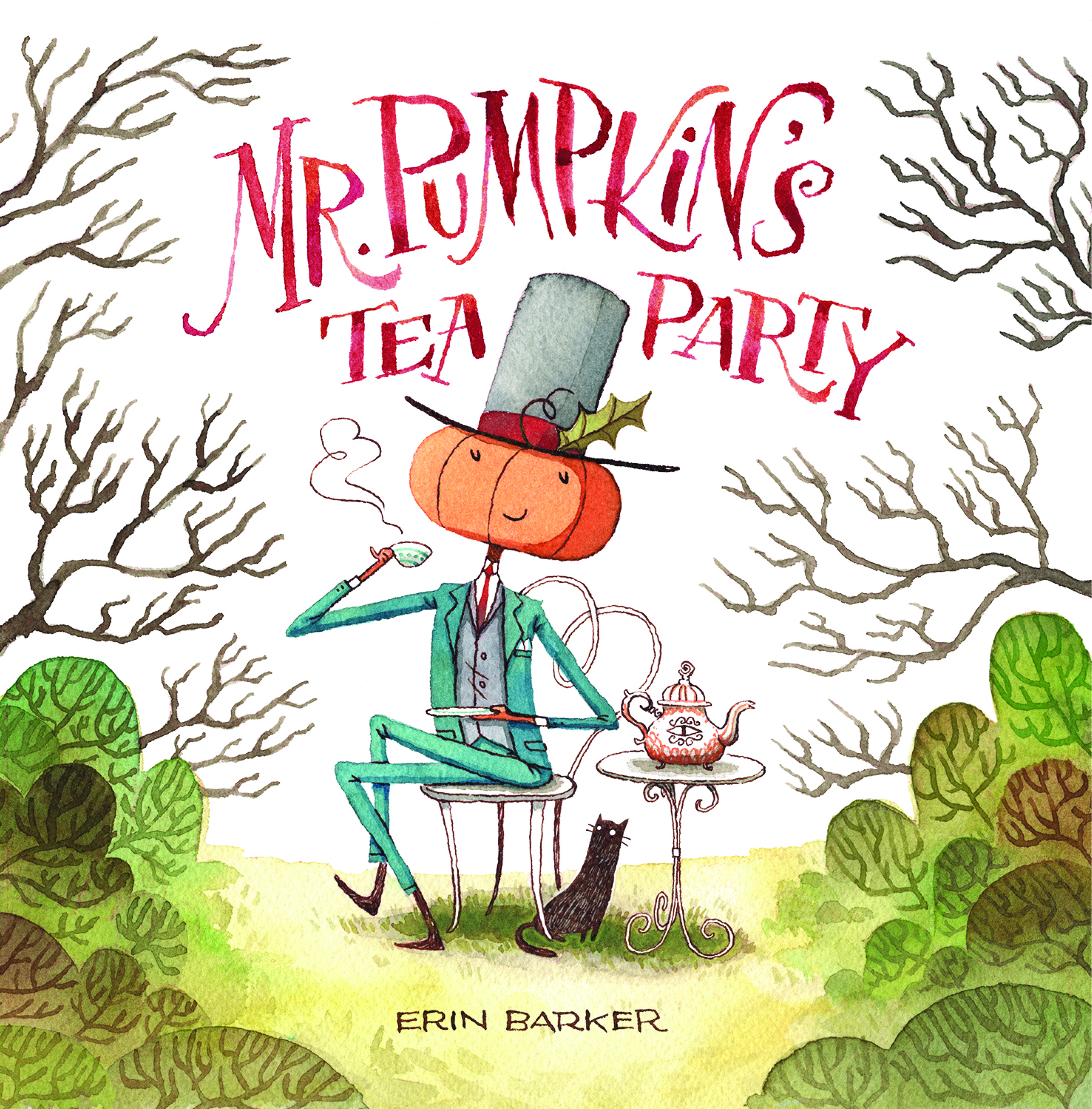 Mr. Pumpkin's Tea Party  , written and illustrated by  Erin Barker , was recently named a  Fall 2019 Kids' Indie Next List pick . Available  now for pre-order , in bookstores September 3.