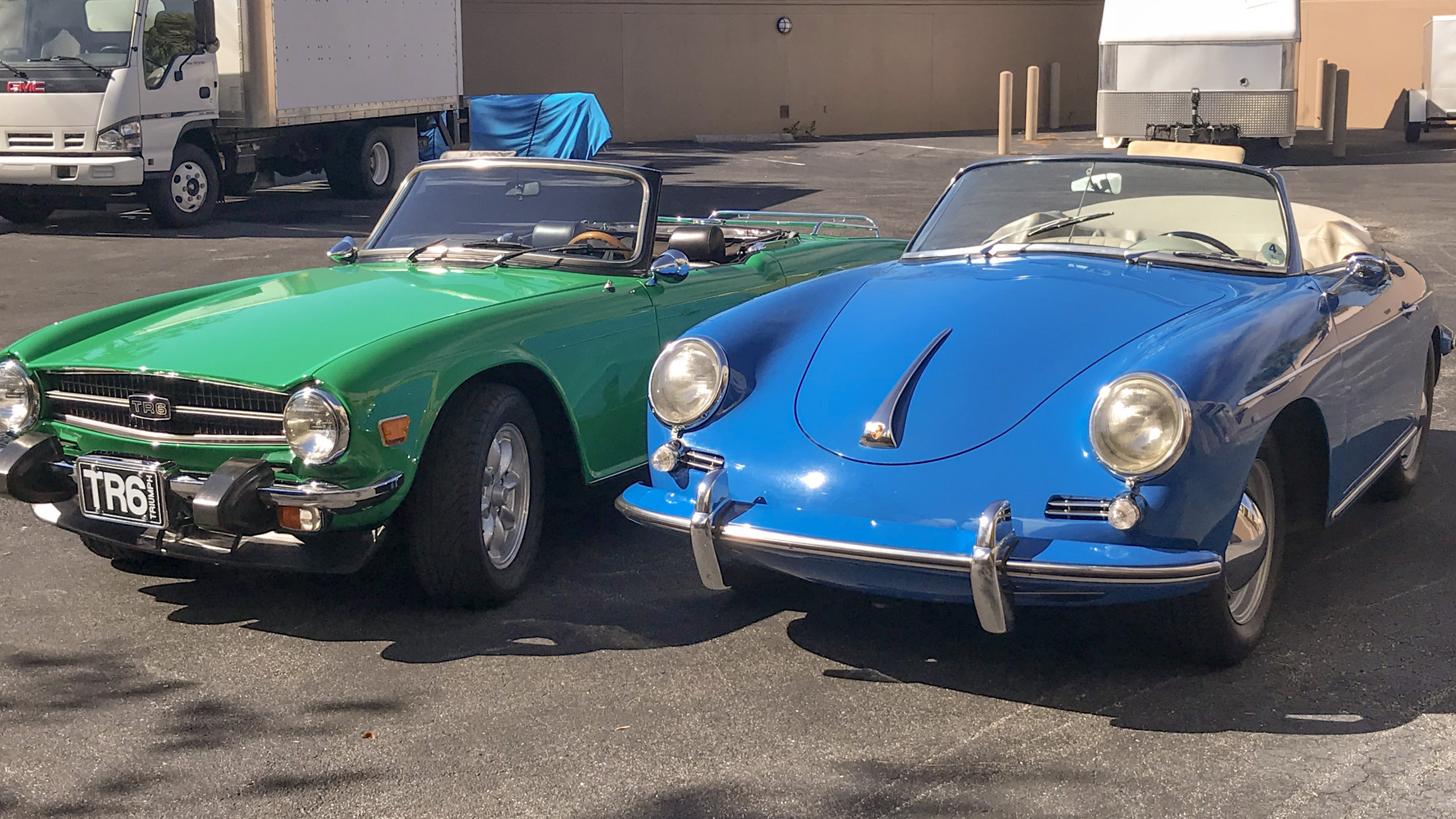 1975 Triumph TR-6 and a 1960 Porsche 356B copy.jpg