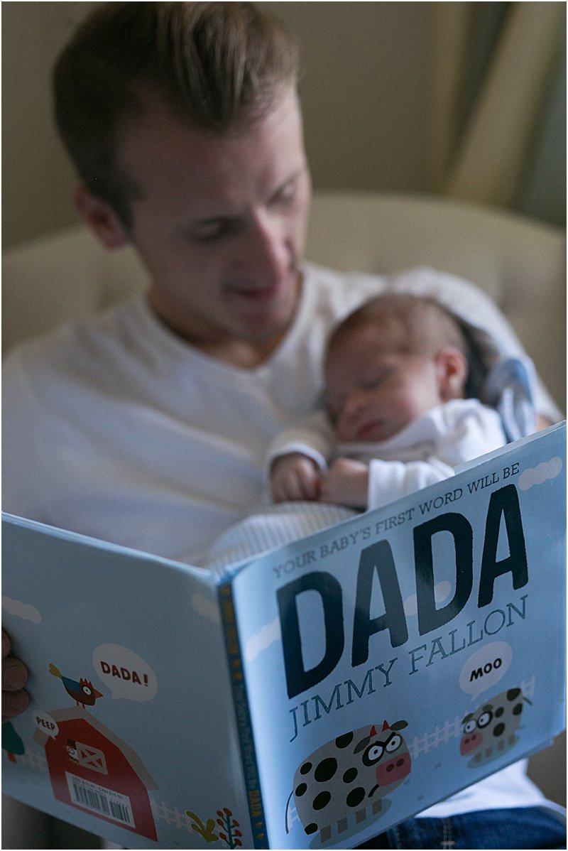 Father Son Newborn Photo