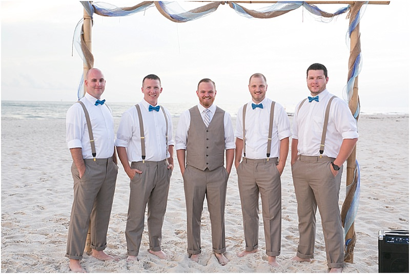 Groomsmen Gulf Shores Wedding on the Beach