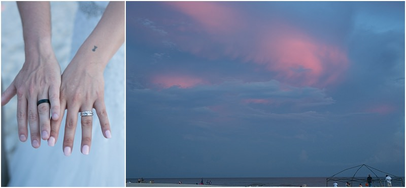 Beautiful Sunset over the Gulf Shores Beach