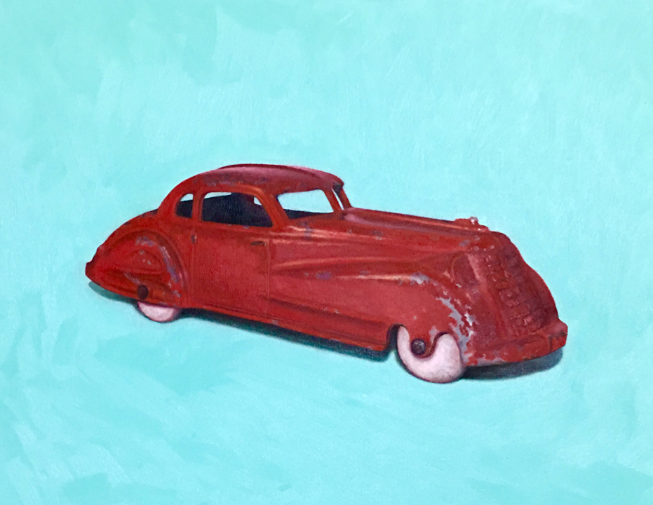 "1930's Studabaker Hubley Toy Car Oil on Canvas 16"" x 20"" 2016    price available upon request"