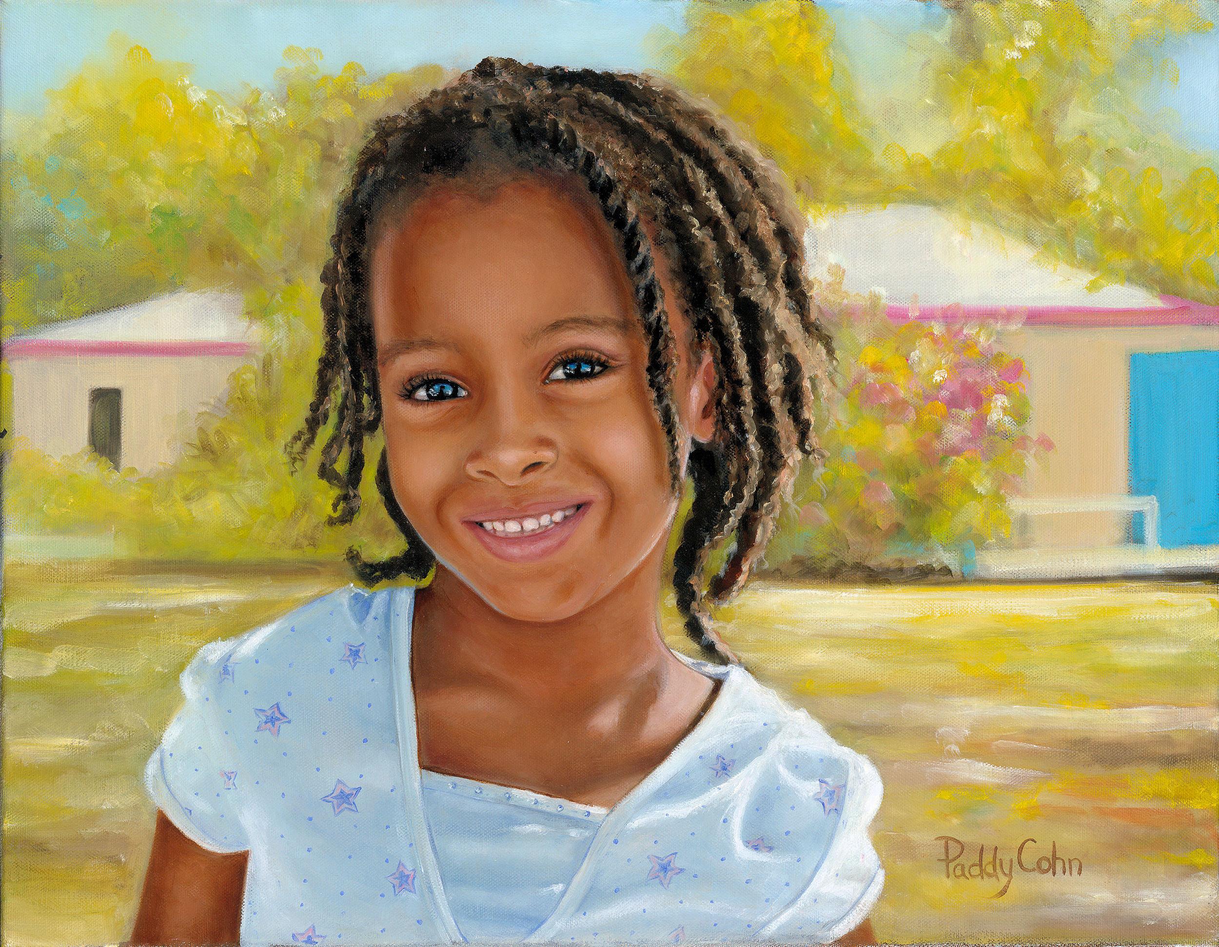 """Danielle 18"""" x 14"""" oil on canvas"""