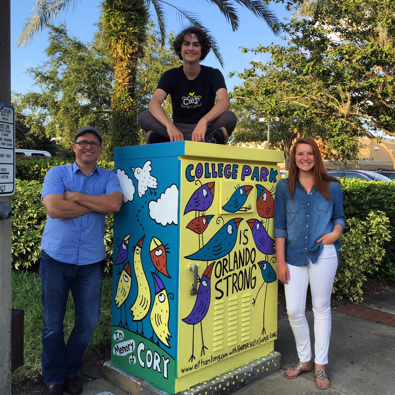 I work directly with the  College Park Partnership  in Orlando, Florida creating artwork for their utility box initiative. We have painted 9 boxes to date and will be repainting 3 more in the near future.