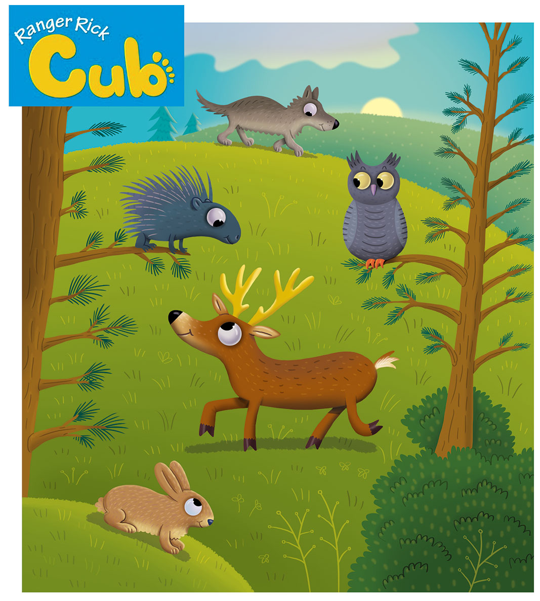 Ranger Rick Cub Magazine  recently selected me as a regular contributing illustrator. My work will appear six times throughout 2018-2019.