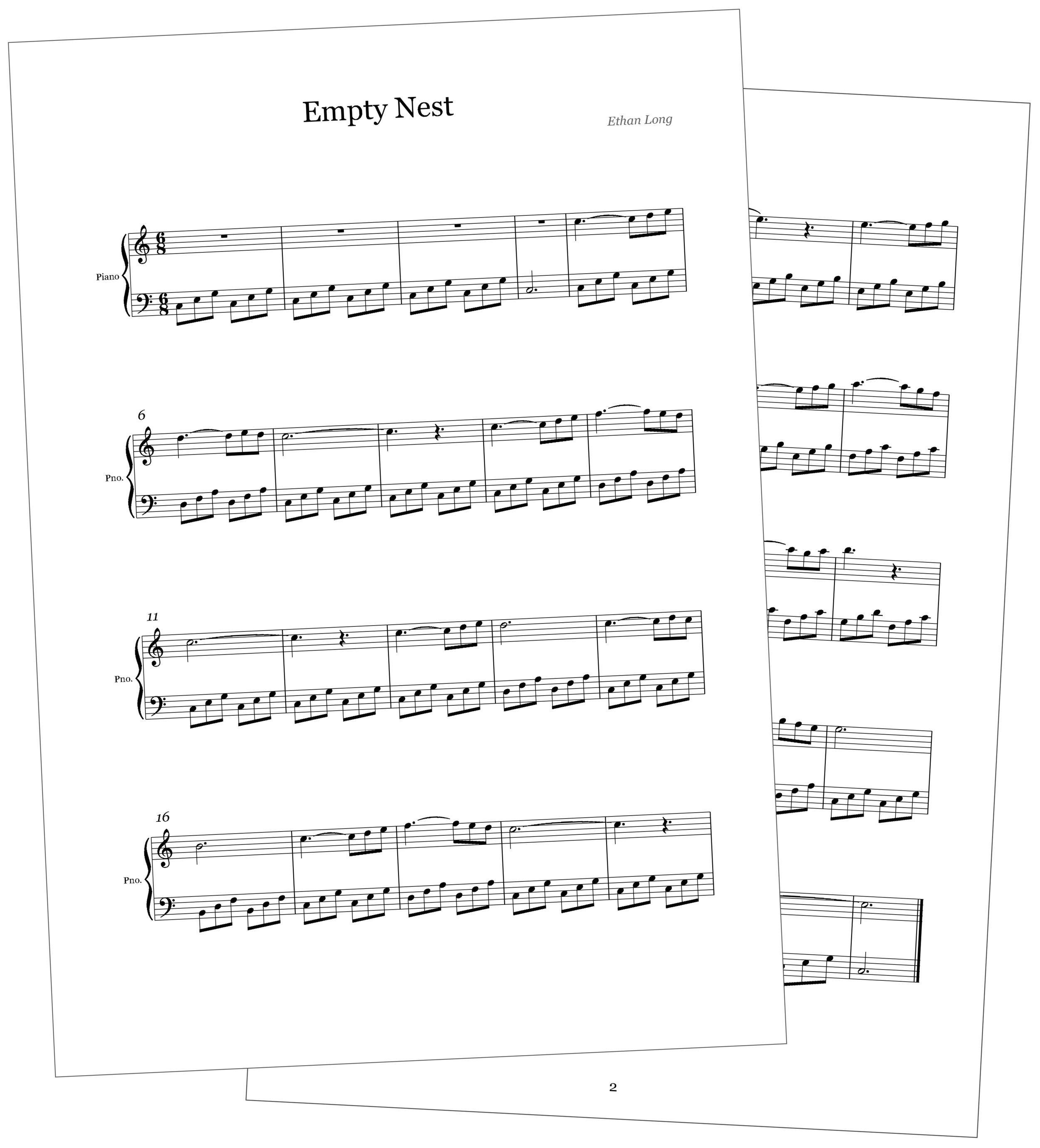 Music by Ethan Long, Transposed by Carson Long