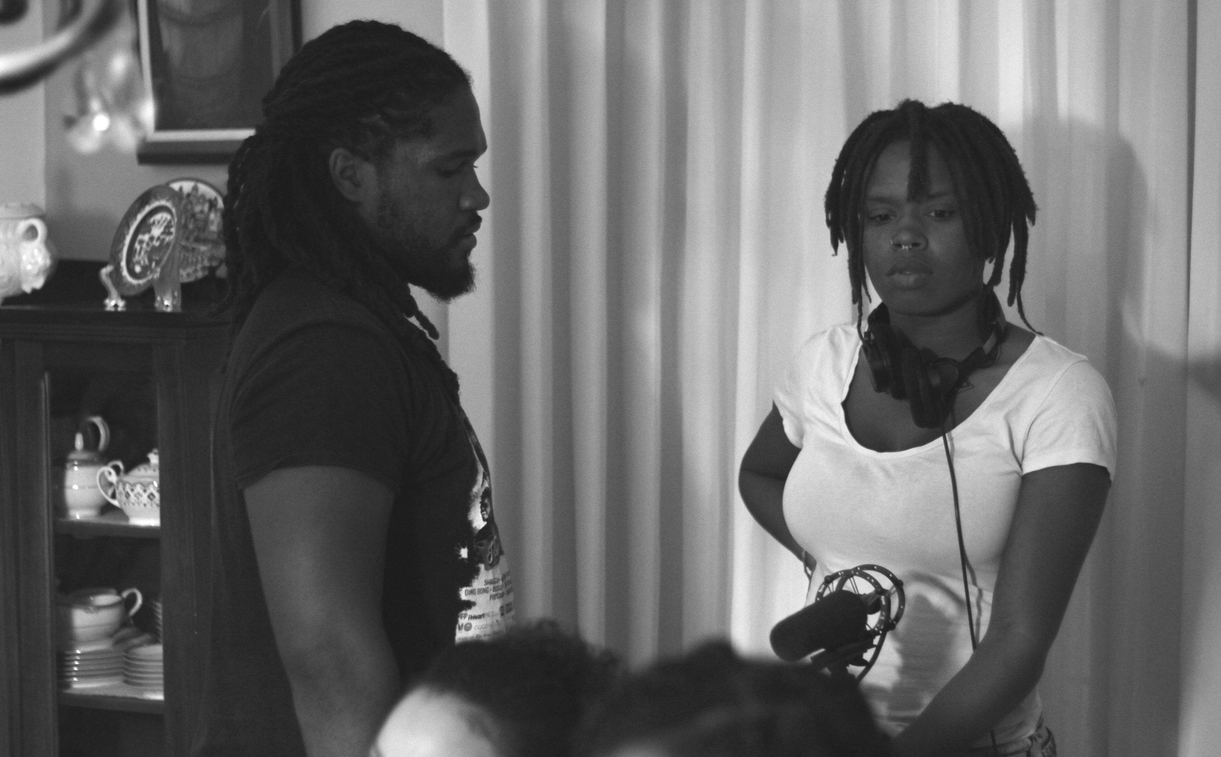 The Cross My Heart Sound team: Raven Jackson and Saeed Thomas!