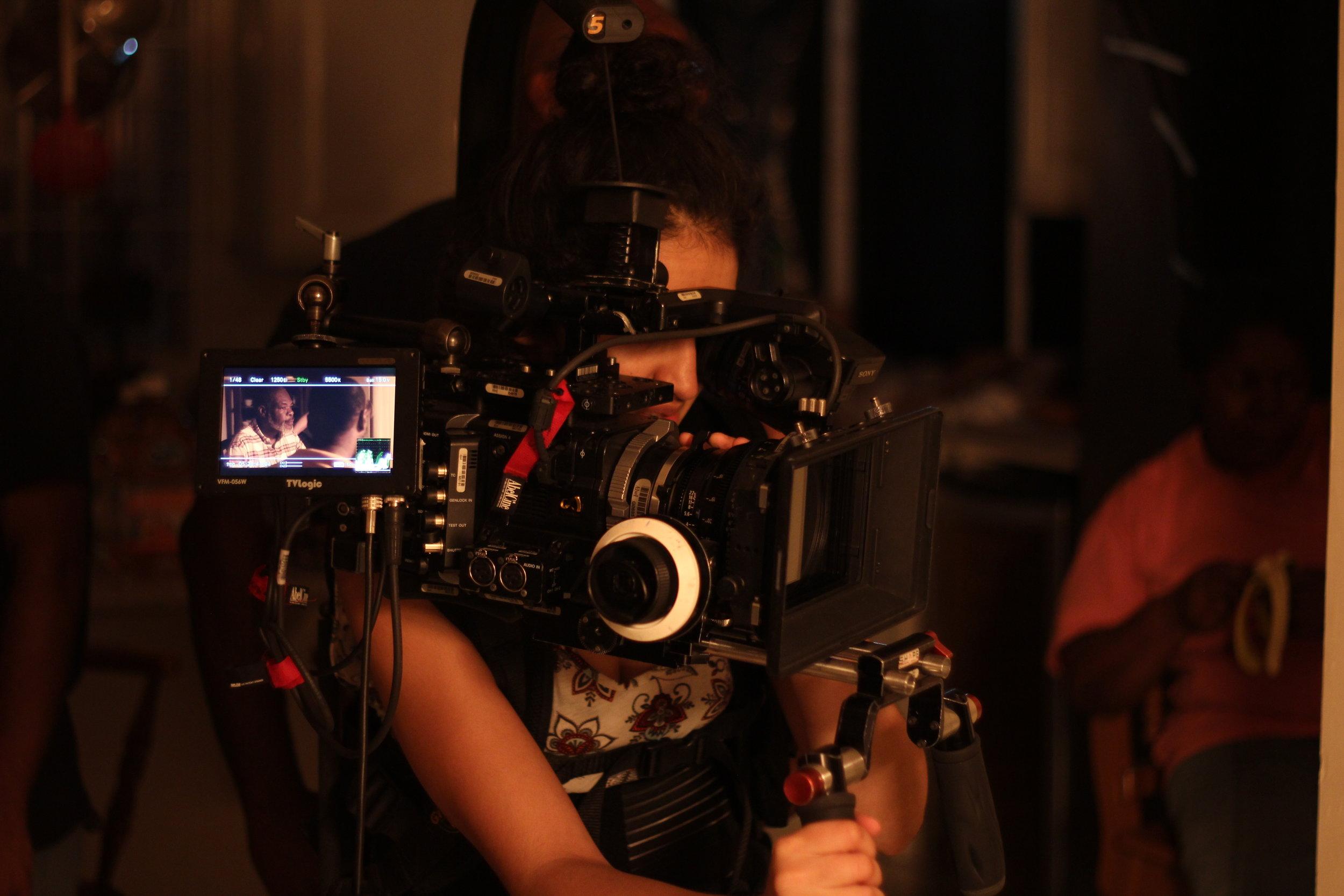 The amazing cinematographer Zamarin Wahdat at work.
