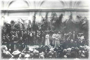 Opening of the Lindley Hall by HM King Edward VII and HM Queen Alexandra, 22 July 1904