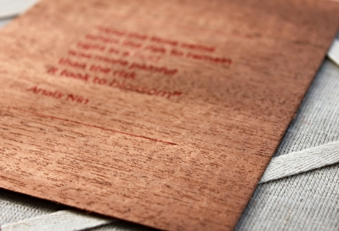 anais nin quote - wood veneer 2