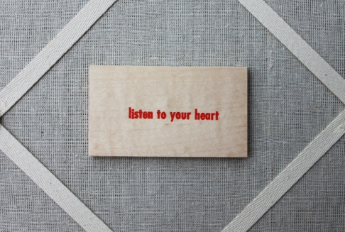 listen to your heart - wood veneer