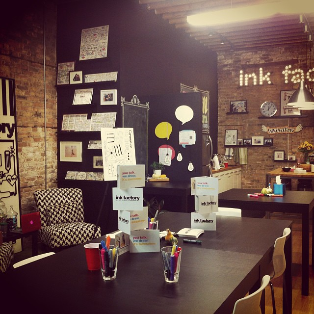 Loved the innovation of the #inkfactory studio space with #chicagoideas week.