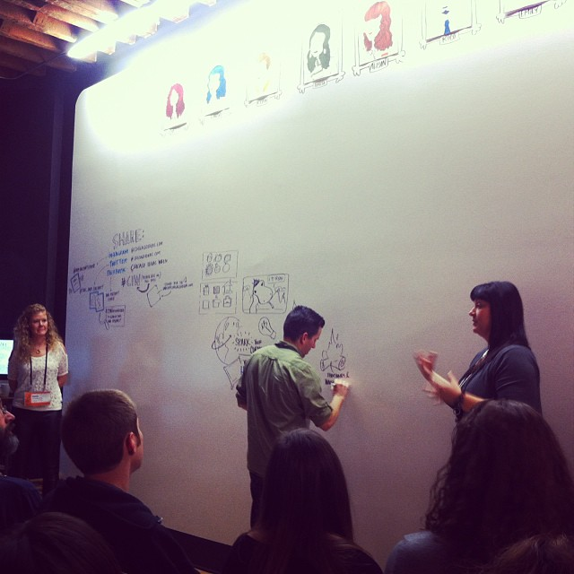 Graphic recording class at ink factory for #chicagoideas week! So much fun!