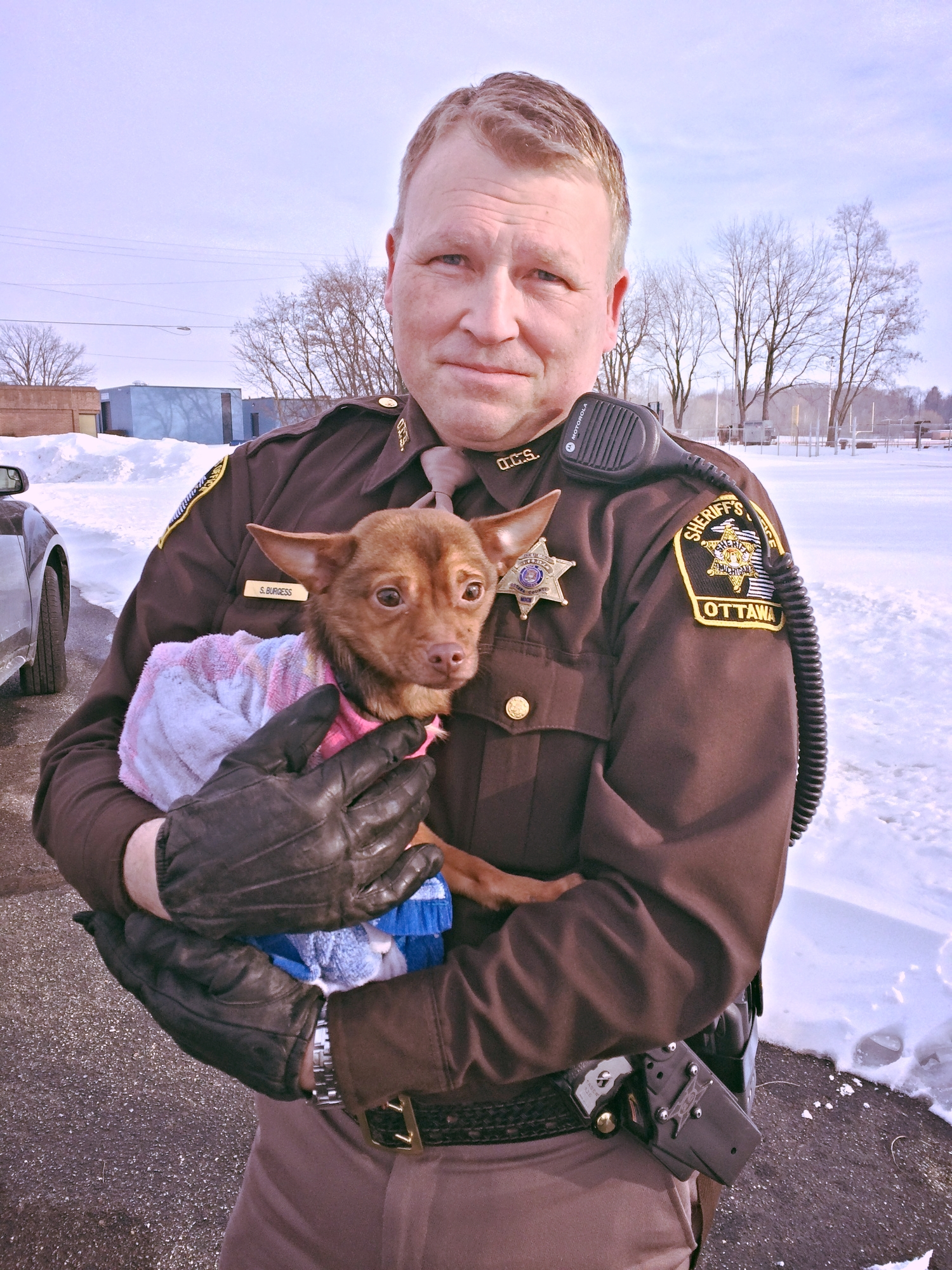 Officer Steve and Reese Witherspoon all wrapped up! The Beauty of Trust!