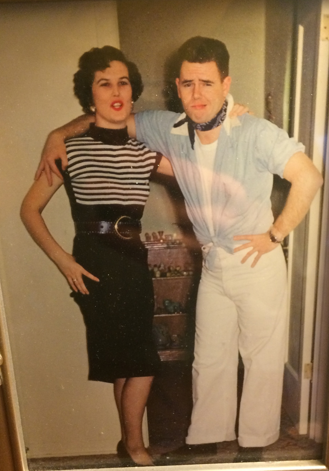 This picture sits in her bedroom... Mema and Grandpa Ray at Halloween!!!