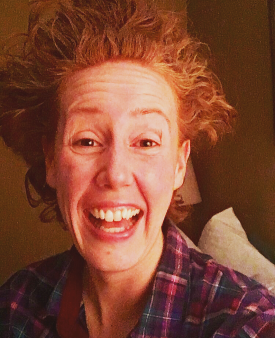 My Hair Post-Yoga!!! Bahaha, it wouldn't move and it made me LAUGH!!!