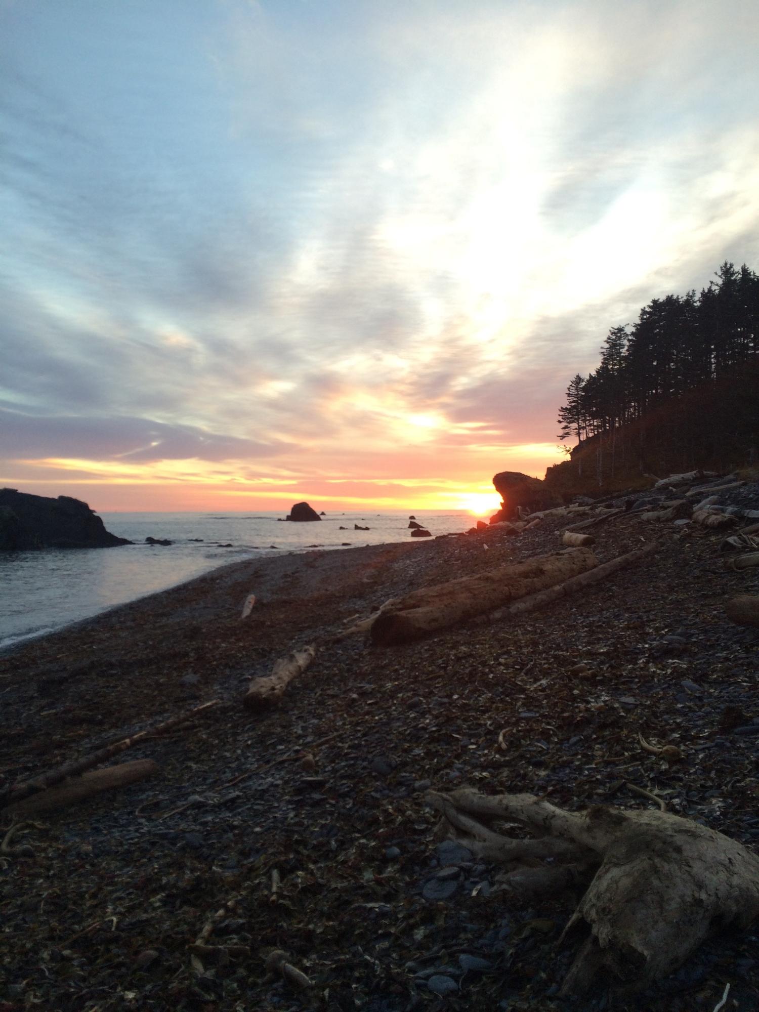 One of the most beautiful sunrises I have ever seen in Kodiak, Alaska!